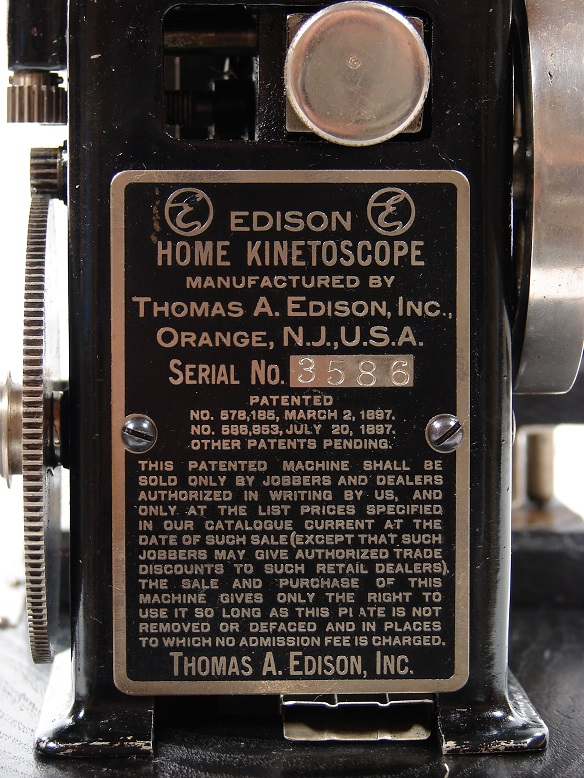 antique thomas edison kinetoscope silent movie film