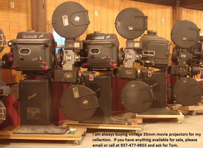 Old movie projectors for sale